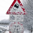 Royalty-Free Stock Photo: Snowy road signs