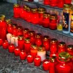 Lights grave on all saints — Stock Photo #8167175