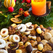Cookies and biscuits for christmas — Foto de Stock