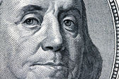 U.s. dollars bills. detail. franklin — Stock Photo