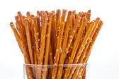 Pretzels as a snack — Stock Photo