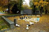 在秋天的上部奥地利林茨花园 — 图库照片