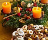 Cookies and biscuits for christmas — Stock Photo