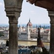 Hungary, budapest, city view, with parliament — Stock Photo