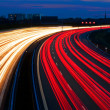 Stock Photo: Light line of highway