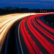 Light line of highway — Stock Photo