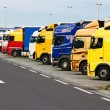 Stock Photo: Truck parking on