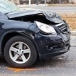 Fender-bender in a car accident — Stock Photo