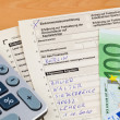 German income tax return — Stock Photo