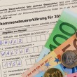 Austrian income tax return — Stock Photo