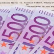 Stock Photo: Euro banknotes and contract (french)