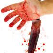 Knife with blood. crime. murder weapon — Stock Photo #8175022