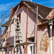 Stock Photo: Old house is being renovated