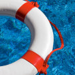 Rescue tires in the pool — Foto Stock