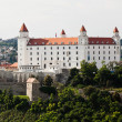 Slovakia, bratislava: castle hill and castle — Stock Photo