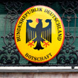 Shield of the german embassy — Stock Photo