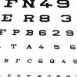 Stock Photo: Panel for eye test