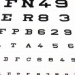 Panel for eye test - Stock Photo