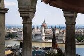 Hongarije, Boedapest, uitzicht op de stad, met het Parlement — Stockfoto