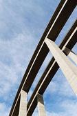 Highway bridge made of concrete — Stock Photo