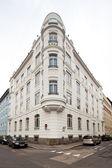 Beautifully renovated art nouveau building — Stock Photo