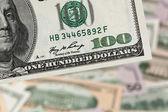 Dolarów. amerykański banknotów — Zdjęcie stockowe