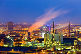 Industrial area at night — Stock Photo