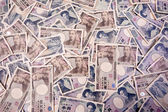 Yen bank notes, currency from japan — Stock Photo