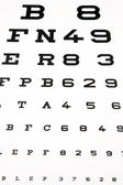 Panel for eye test — Stock Photo