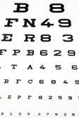 Panel for eye test — Stock Photo