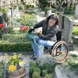 Handicapped womat cemetery — Stock Photo #8180737
