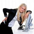Woman with pain in the back office — Stock Photo #8181072