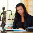 Attorney at law and justice - Foto Stock