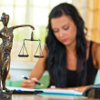 Attorney at law and justice - Stockfoto