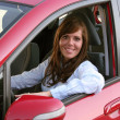 Young woman with a new car — Stock Photo #8187087