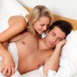 Couple has fun in bed — Stock Photo #8188840