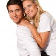 Laughing young couple have fun and joy. — Stock Photo #8188887