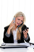 ženy se stresem v kanceláři — Stock fotografie