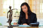 Attorney at law and justice — Stock Photo