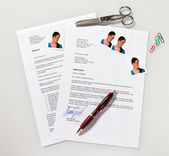 Write for application and cv — Stock Photo