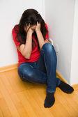 Anxious woman — Stock Photo