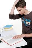 Genç öğrenci öğrenmek — Stok fotoğraf