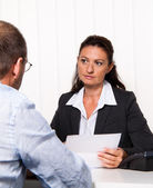 Consultation with attorney — Stock Photo