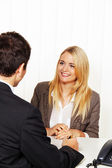 Counseling session. consultation and discussion by ber — Stock Photo