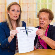 Grandson and grandmother. generation contract — Stock Photo #8191002