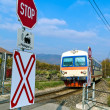 Stock Photo: Donauuferbahn. crossing without barriers