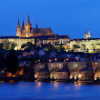 Royalty-Free Stock Photo: Prague, charles bridge and prague castle hradcany at night