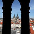 Prague, old town square, tyn church — Stock Photo #8192032