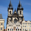 Prague, old town square, tyn church — Stock Photo #8192045