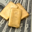 Investment in real gold than gold bullion and goldmãƒâ coins — Stock Photo